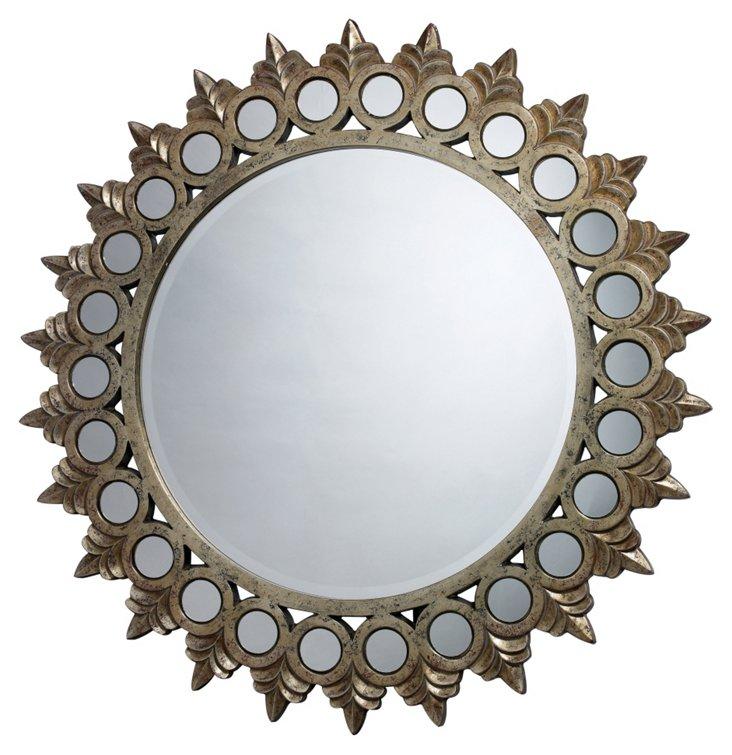 Harding Oversize Mirror, Antiqued Gold