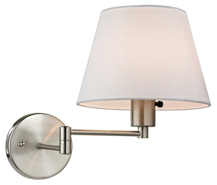 Duvall Swing-Arm Sconce, Nickel