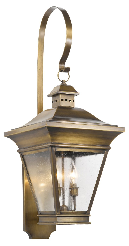 Reynolds 2-Light Wall Lantern, Brass