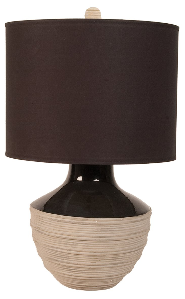 Corrugated Trophy Table Lamp, Black