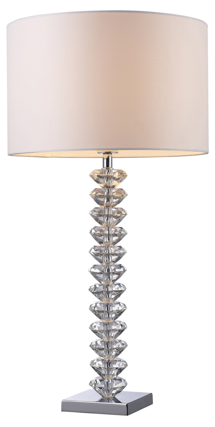 Modena Table Lamp, Clear Crystal