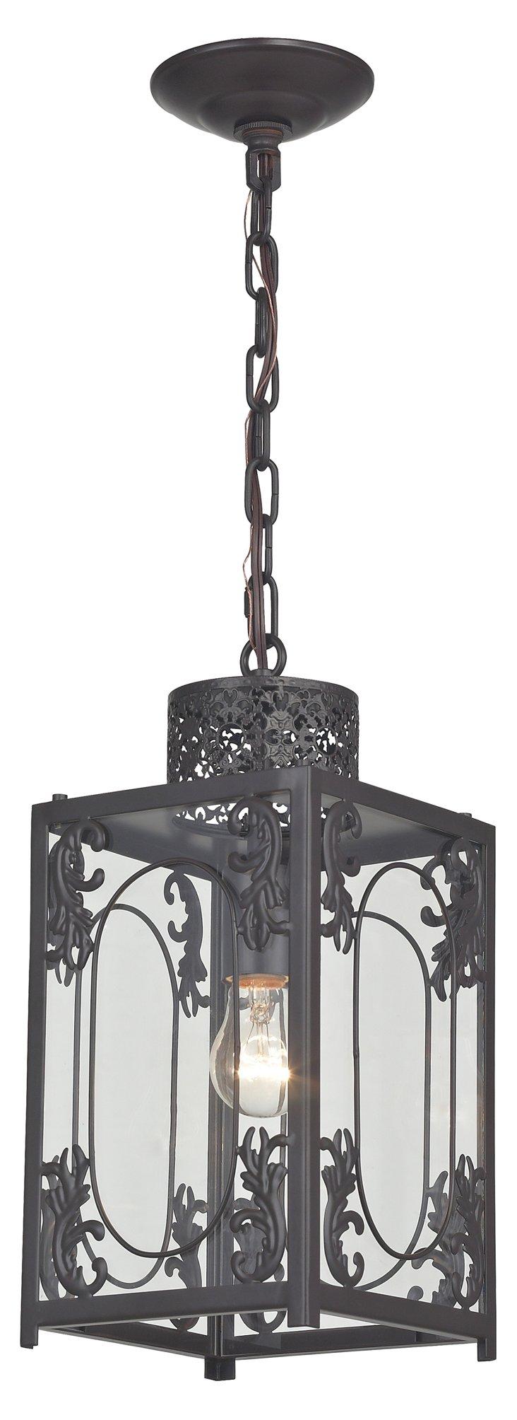 Benson Rustic Lantern, Aged Bronze