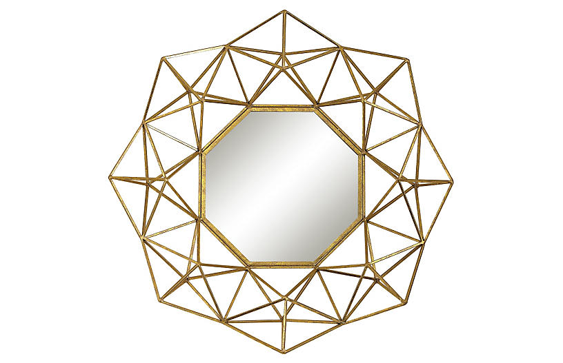 Zena Wall Mirror, Gold