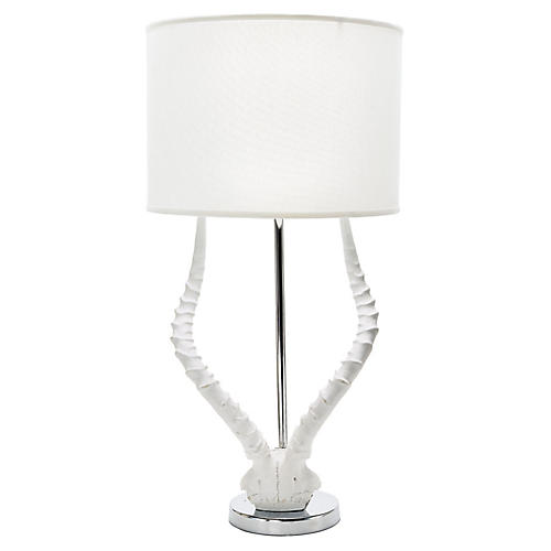 Antler Table Lamp, White