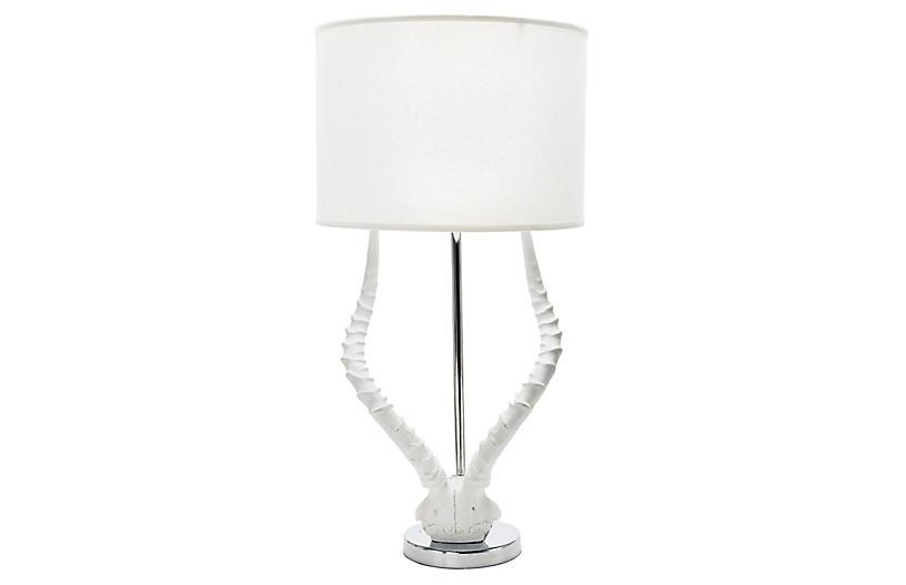 Antler Table Lamp, White