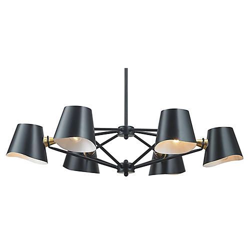 Webre 6-Light Chandelier, Matte Black