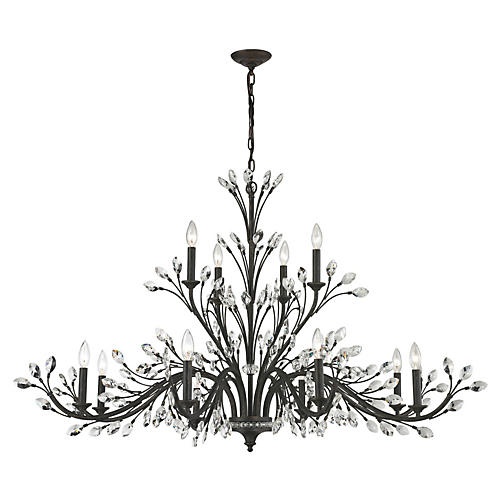 Branches 12-Light Chandelier, Bronze