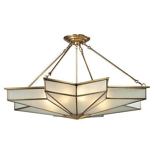 Decostar 8-Light Pendant, Brushed Brass