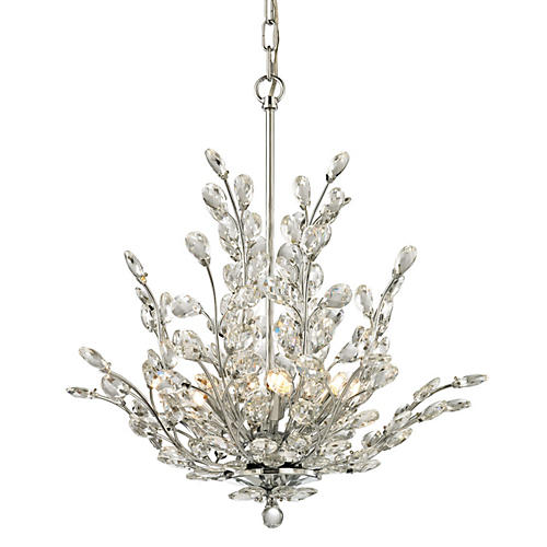 Crystique 6-Light Chandelier, Chrome