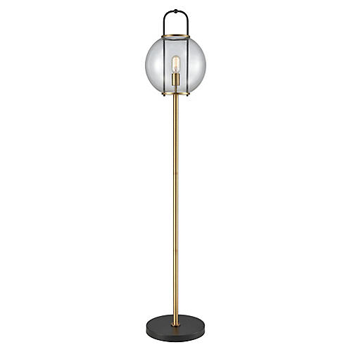 Faraday Floor Lamp, Brass/Black