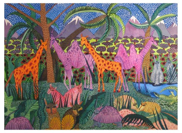 Elksnin, Purple Camels Orange Giraffes