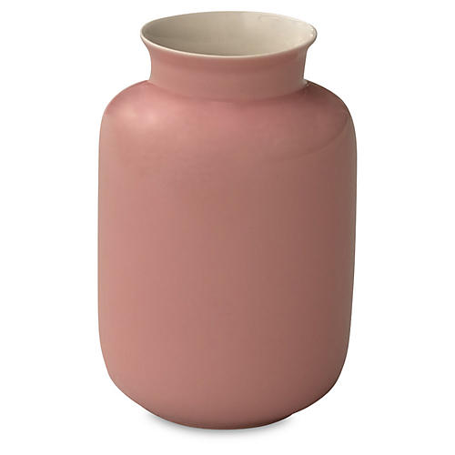 "5"" Porcelain Milk Jar, Rose"