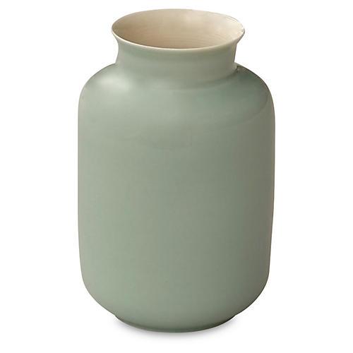 "5"" Porcelain Milk Jar, Green"