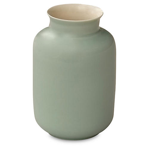 "4"" Porcelain Milk Jar, Celadon Green"