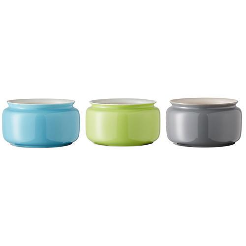 Asst. of 3 Kyra Mini Vases, Turquoise/Multi
