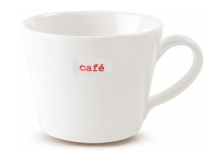 "Porcelain ""Café"" Espresso Cup"