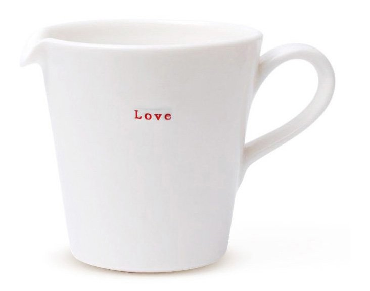 "Porcelain ""Love"" Jug, Medium"