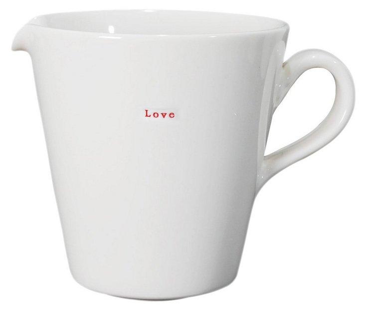 """Porcelain """"Love"""" Jug, Large"""