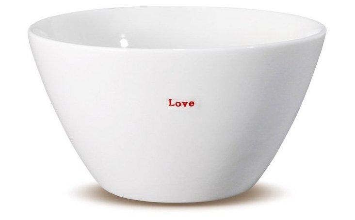 """Porcelain """"Love"""" Bowl, Medium"""