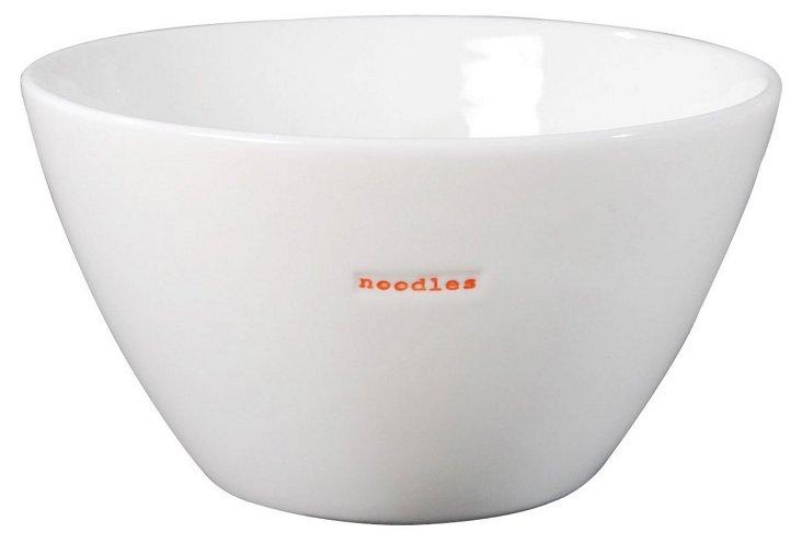 """Porcelain """"Noodles"""" Bowl, Medium"""