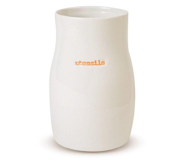 """Porcelain """"Utensils"""" Holder"""