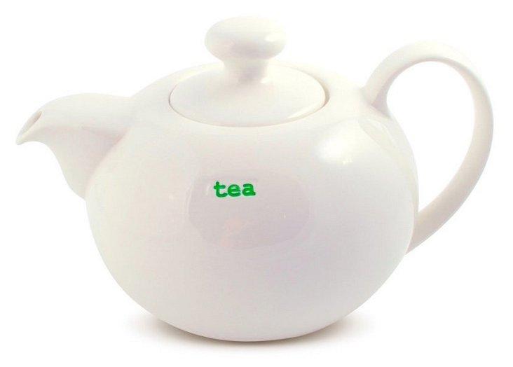 "Porcelain ""Tea"" Teapot, Large"