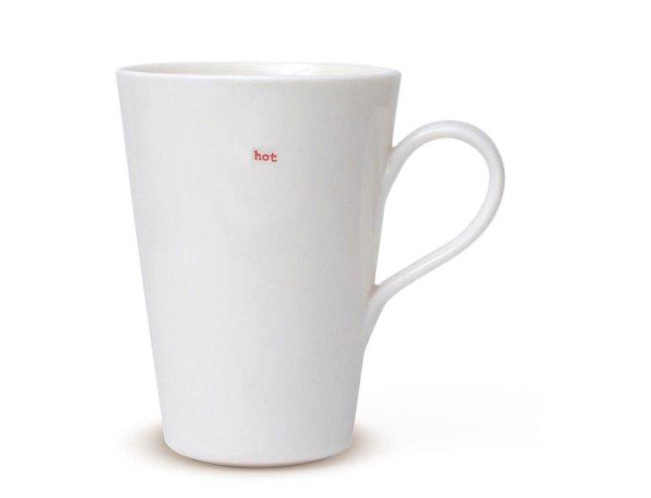 """Porcelain """"Hot"""" Latte Mug"""