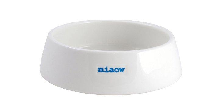 """Porcelain """"Miaow"""" Pet Bowl"""