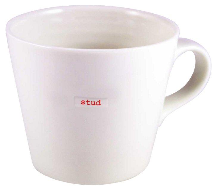 "Porcelain ""Stud"" Bucket Mug, Large"