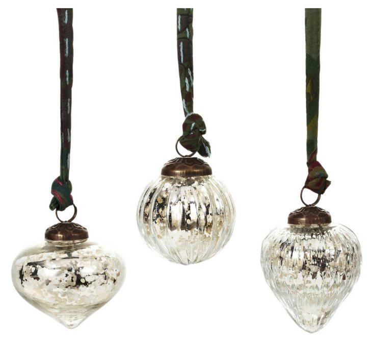 Rustic Baubles, Asst. of 6, Silver