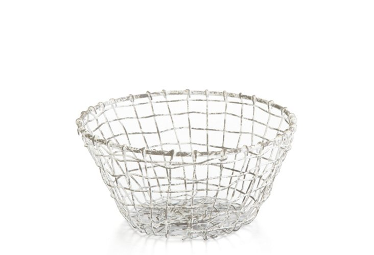 Small Taborah Bowl, Distressed White