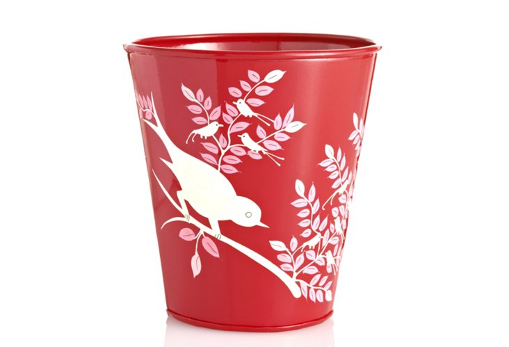 Eva Hand Painted Pot, Red