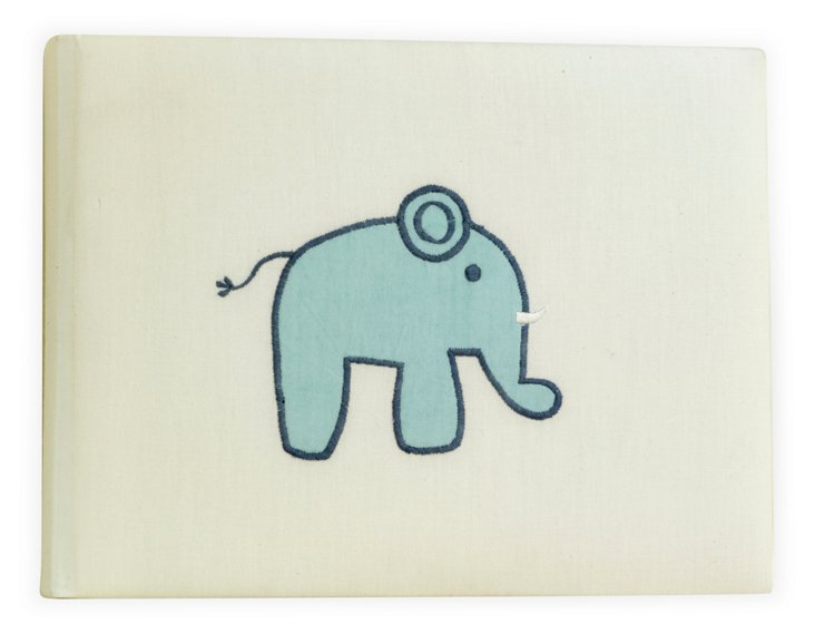 Baby Elephant Photo Album, Blue