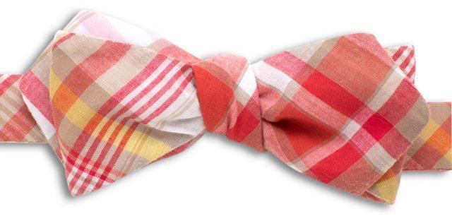 Vintage Summer Plaid Bow Tie