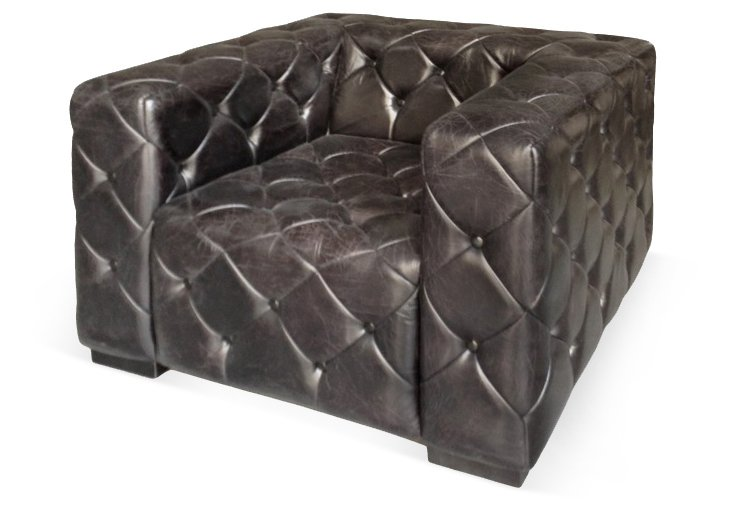 Henry Leather Tufted Chair