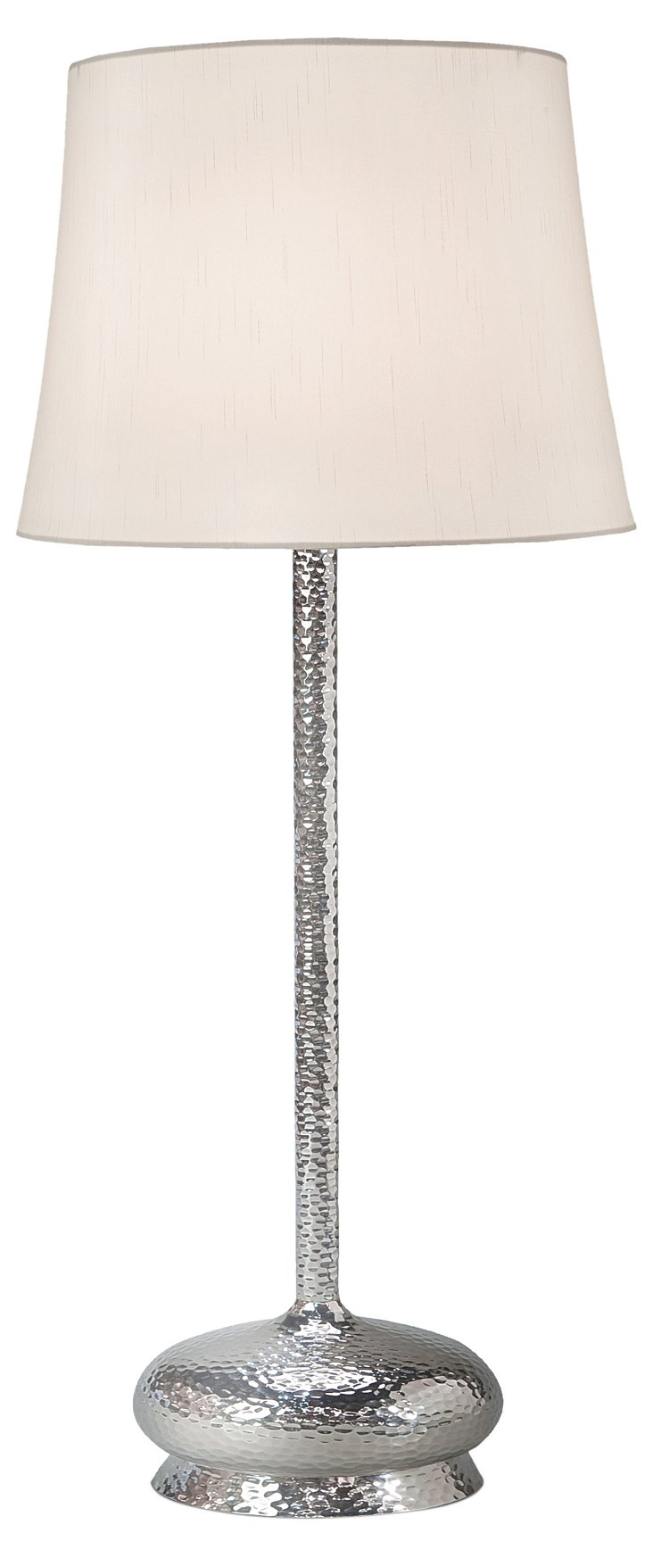 Hammered Table Lamp, Nickel