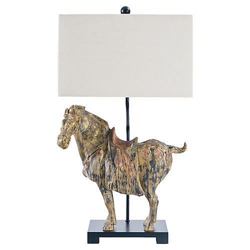 Pair of Dynasty Horse Lamps, Black