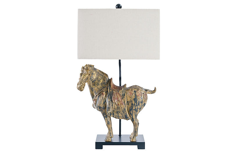 Pair of Dynasty Horse Lamps - Black - Regina Andrew Design