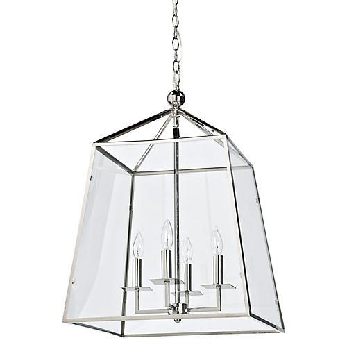 Metal & Glass Lantern, Metal