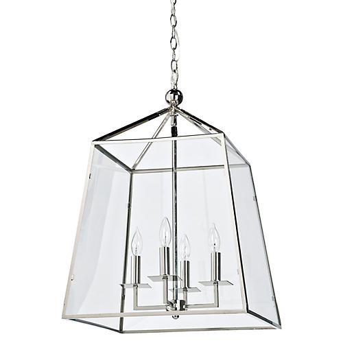 Metal & Glass Lantern, Metal