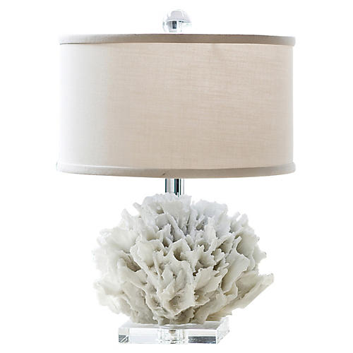 Ribbon Coral Lamp, Resin