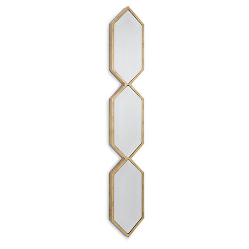 "Triple Diamond 6""x43"" Wall Panel, Gold"