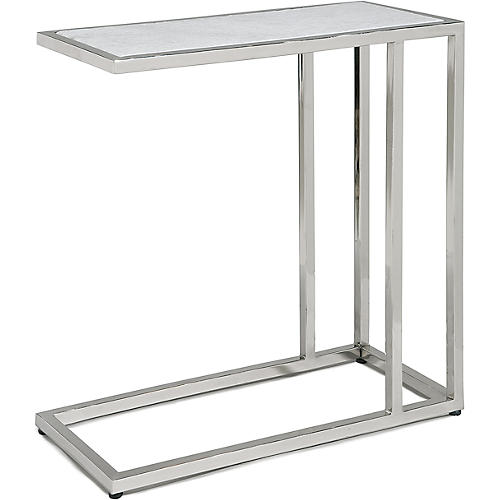 Echelon Side Table, Marbled Gray