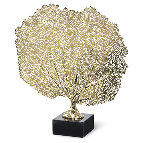 "16"" Sea Fan, Brass"