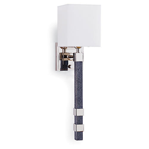 Metro Sconce, Charcoal Shagreen