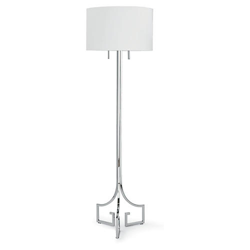 Le Chic Floor Lamp, Polished Nickel