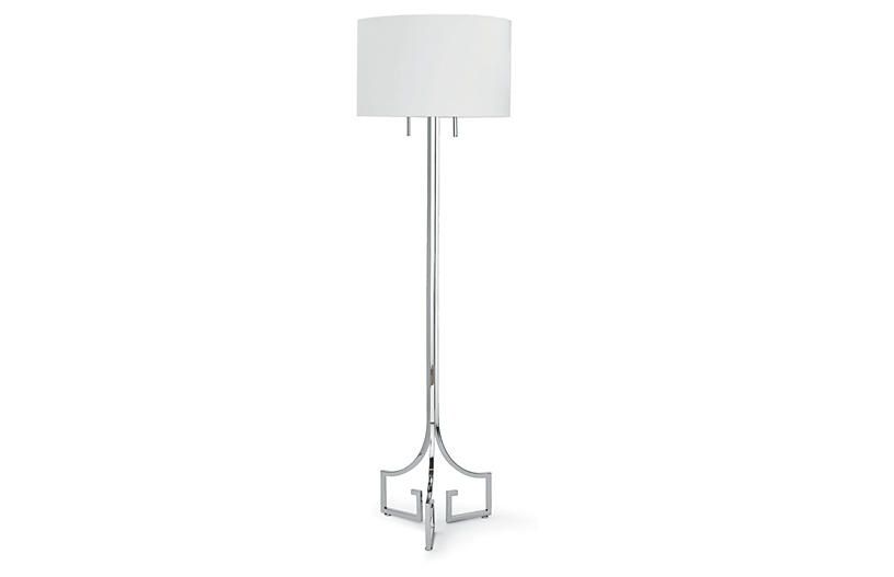 Le chic floor lamp polished nickel