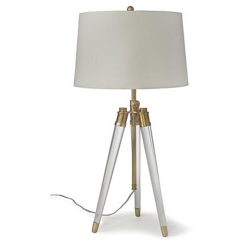Brigitte Table Lamp, Brass/Acrylic