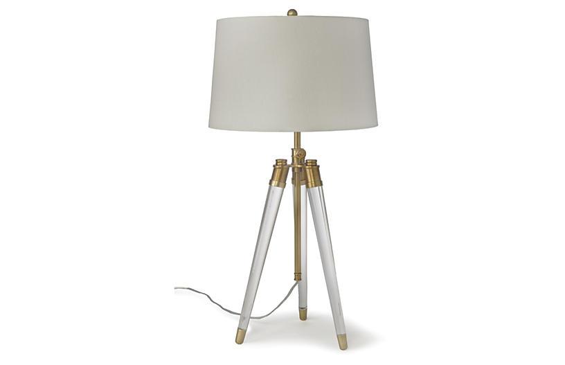 Brigitte Table Lamp - Brass/Acrylic - Regina Andrew Design
