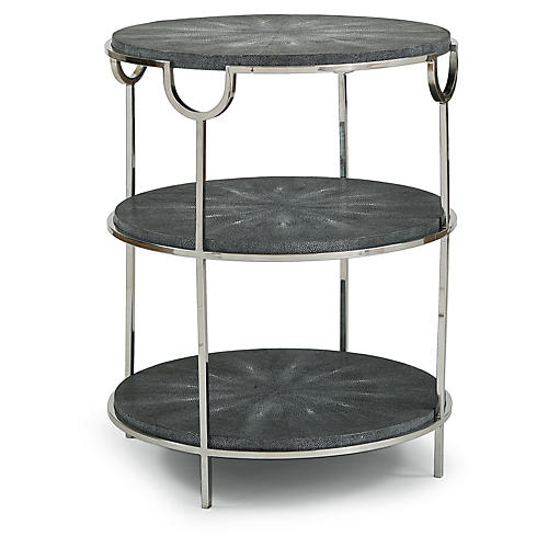 Vogue Tiered Side Table, Charcoal